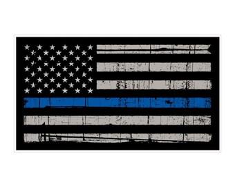 Thin Blue Line - USA Flag