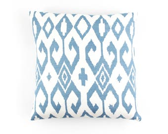 Quadrille China Seas Aqua II Pillows (shown in French Blue on White-comes in other colors)