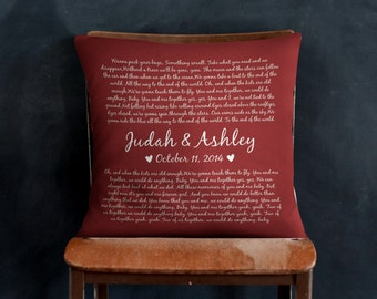 Wedding Vows, Square Throw Pillow, Valentines Day Gift