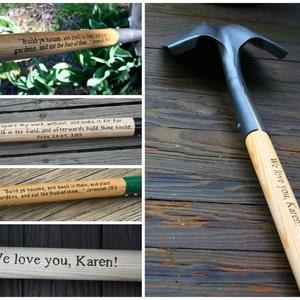 Garden Shovel - Ceremonial Shovel - Personalized Gardener Gift - Hand engraved custom designed- Groundbreaking Shovel- Retirement Gift