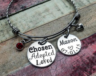 Adoption Gift, Custom Adoption Bracelet, Forever Ours Jewelry, Adoption day gift, Adoptive Foster Parent, Personalized Adoption Jewelry