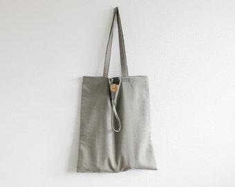 "Grey linen market bag, linen shopping bag, 14"" x 17"" linen tote bag, foldable bag, reusable shopping bag, linen shopping tote, grey tote bag"