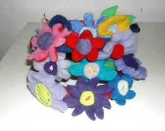 Headbands in carded wool