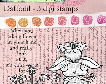 Daffodil - 3 digi stamp set