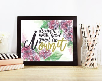 """Beyonce """"Formation"""" Lyric Quote Watercolor Wall Art Print *FREE SHIPPING*"""