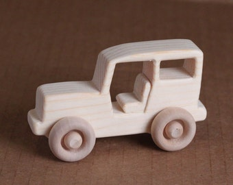 Handcrafted Mini wooden Jeep 205