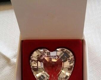 Swarovski 1996 Clear Renewal Crystal Heart in Box