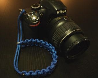 Paracord Camera Wrist Strap - Blue