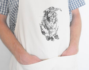 Hand Printed Hare Apron