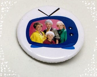 Golden Girls tv show Magnet or Pinback Button Badge 1.25 inch Flair