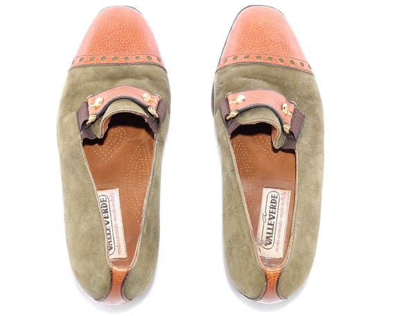 b0f6abb1ad1f0 Flats sku Loafers Shoes Brown Eur Suede 3979 Moss 3 80s Leather US ...