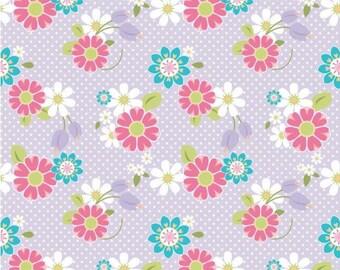 Dream Floral Purple in Knit Fabric, Riley Blake Dream Floral in Knit Fabric, Riley Blake by the yard