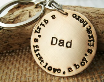 Dad Keychain - Dad gift - Fathers Day Keychain - Personalized key chain