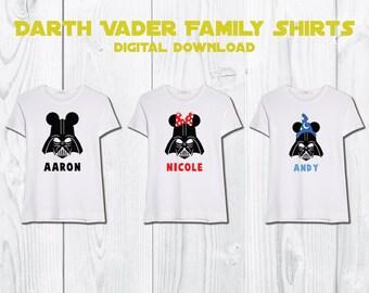 Darth Vader Family Shirts