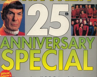 Starlog 1991 25 Years Star Trek Magazine 25th Anniversay Special Near MINT