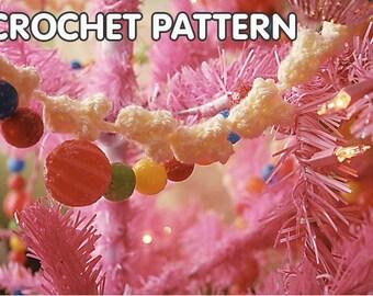 pdf PATTERN- crochet Popcorn Garland