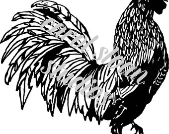 Line Art Rooster : Rooster stencil no 2 various sizes from artisticstencils on etsy studio