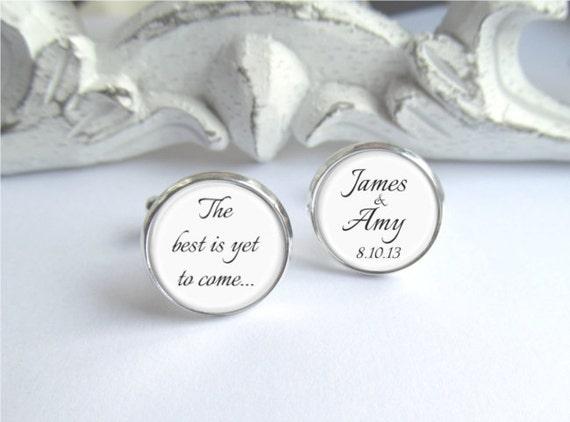 Personalized Groom Cufflinks Keepsake Wedding Day Cufflinks