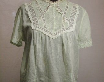 1930s pintuck blouse