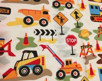 Custom made Boys Weighted Blanket/Construction & traffic signs/Kids weighted blanket/ Autism/Aspergers/ADHD/Anxiety/OCD/
