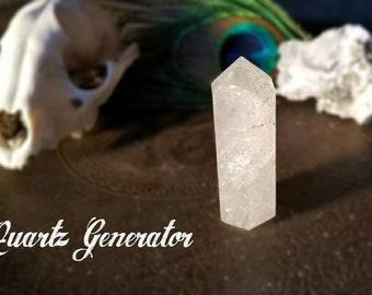 Phantom quartz generator with beveled edge