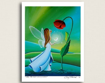 When The Moon Sings A Song - big flower tiny moon - Signed 8x10 Semi Gloss Print (2/10)