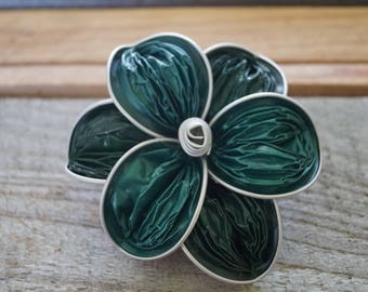 Nespresso flower brooches