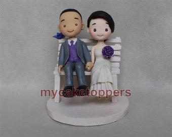 Lovely wedding cake topper, funny wedding cake topper,Cartoon custom cake topper,lovely cake toppers,occasion cake topper,cute cake topper