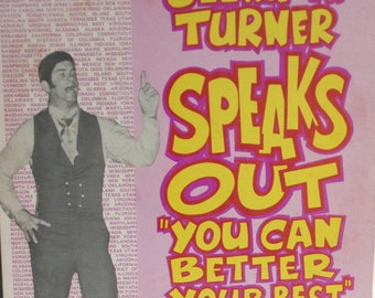 Glenn W. Turner, Speaks Out You Can Better Your Best, Vintage Record Album, Vinyl LP, Motivational Speaker, Non-Music Album, Spoken Word