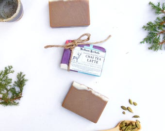 CHAI TEA LATTE Soap | Handmade Soap, Stocking Stuffers, Holiday Gifts, Chai Tea, Herbal Soap, Gifts for Her, Gifts for Him, Homemade Soap