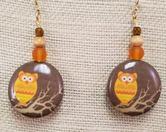 Owl Earrings - Fall Fashion - Owl Jewelry