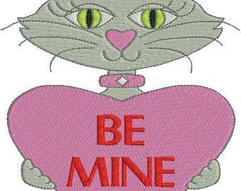 Valentine Cats 1 Machine Embroidery Designs