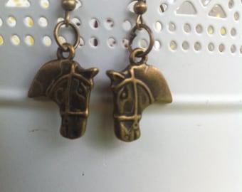 Horse head earrings