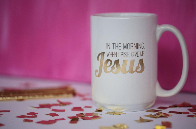 Give me Jesus 16oz gold foil mug