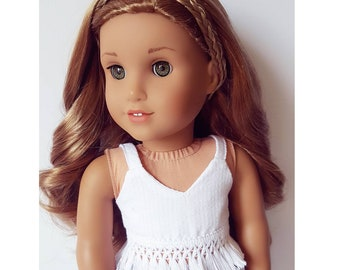 18 ich doll clothes white tank top with fringe