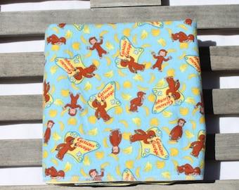 Cotton Flannel Reversible Receiving Baby Blanket