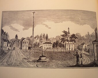 Athol Massachusetts Town Engravings 1840 reprinted 1964 - New England Cities Antiquarian Society - framable gift town history