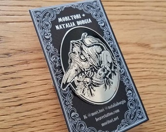 Plague doctor and rat black death soft enamel pin - Natalia Borgia collab