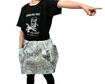 World Explorer Unisex Pocket Skirt
