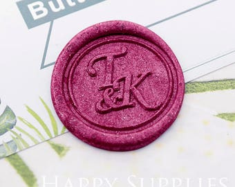 1pcs Custom Wax Seal Stamp Initial Alphabet Sealing Wax Stamp,Personalized Monogram Calligraphy Wedding Invitation Letter Metal Stamp(WS452)