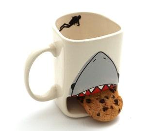 Shark week - cookie mug - shark dunk mug - Live every week like it's shark week mug - funny gift for cookie lover