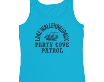 Lake Wallenpaupack Tank Top Party Cove Patrol / Boating Swimming Kayaking Wakeboarding Camping / Lake Tank Tops For Women / Muscle Tank