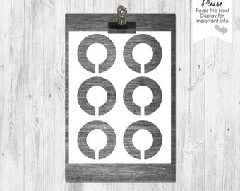 Closet Divider Template, Instant Download, Organization, DIY Paper Craft