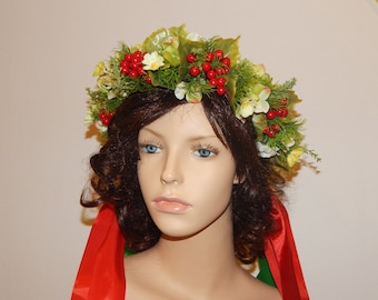 Ukrainian wreath. Ukrainian accessory. Hair decoration. Wreath for girls and women.