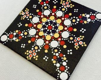 magnet dots mandala handmade painting
