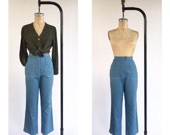 1970's High Waist Light Wash Jeans
