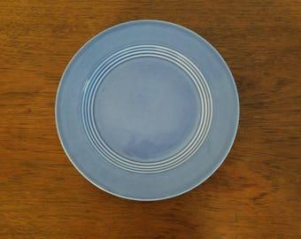 Homer Laughlin Harlequin Luncheon Plate, Mauve Blue, Fiestaware