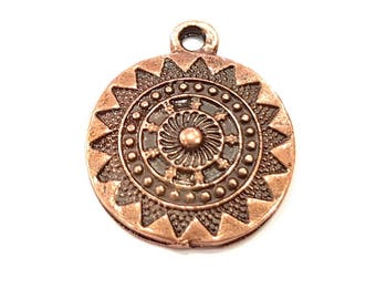 80 Copper Charm Antique Copper Charm Antique Copper Plated Charm (20mm) G9792