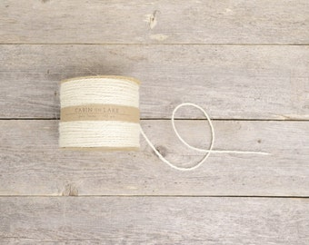 Ivory Jute Twine / Rustic Wedding Twine / Ivory String - 100 yards