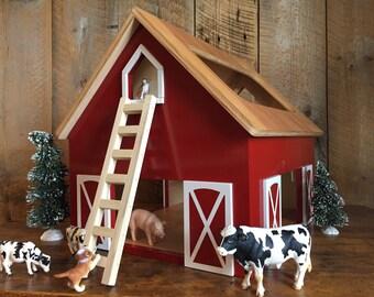 Kids Hardwood Toy Barn - SHIPS 1-3 Days-